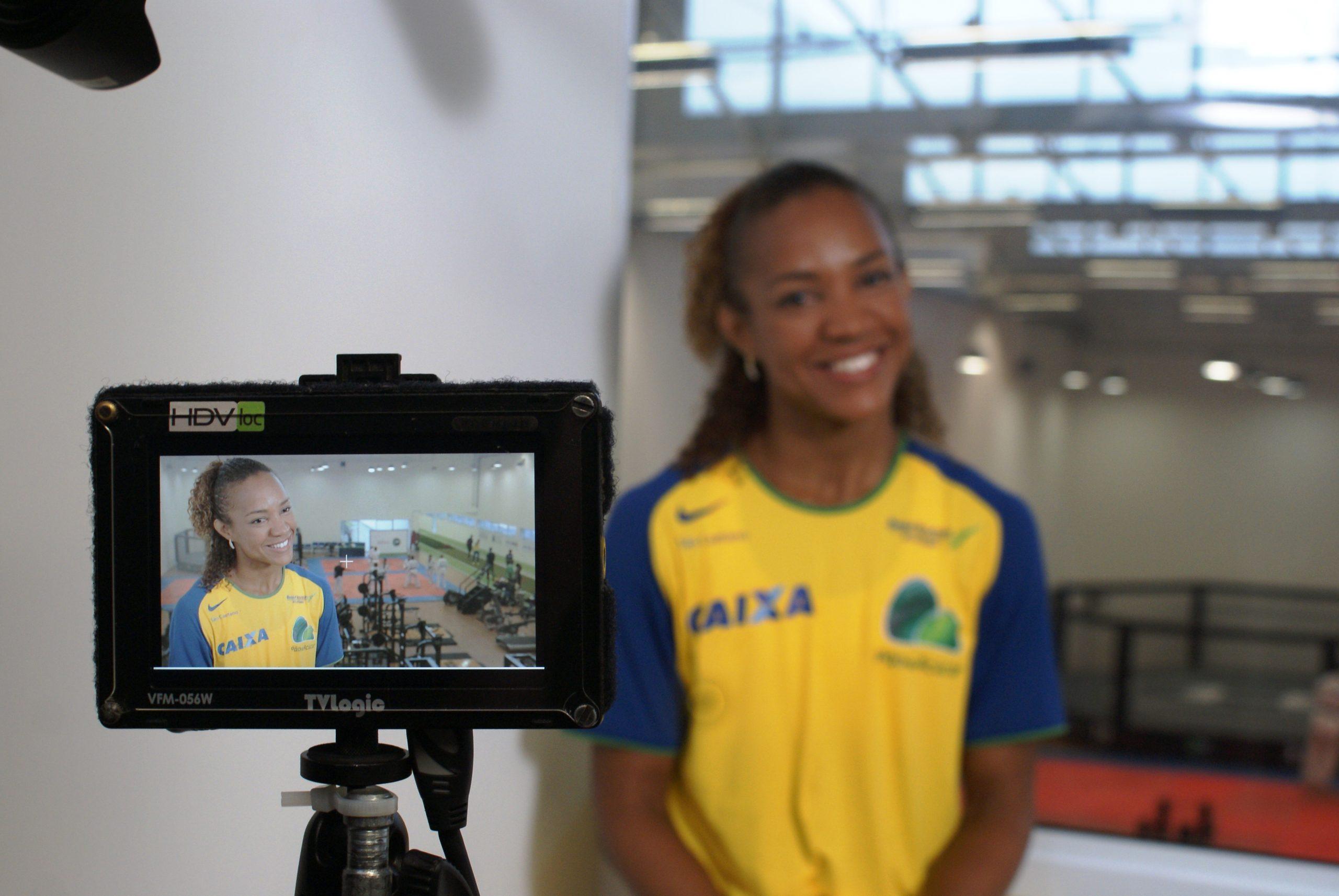 Grandes nomes do esporte brasileiro se encontram no NAR para gravação de vídeo institucional