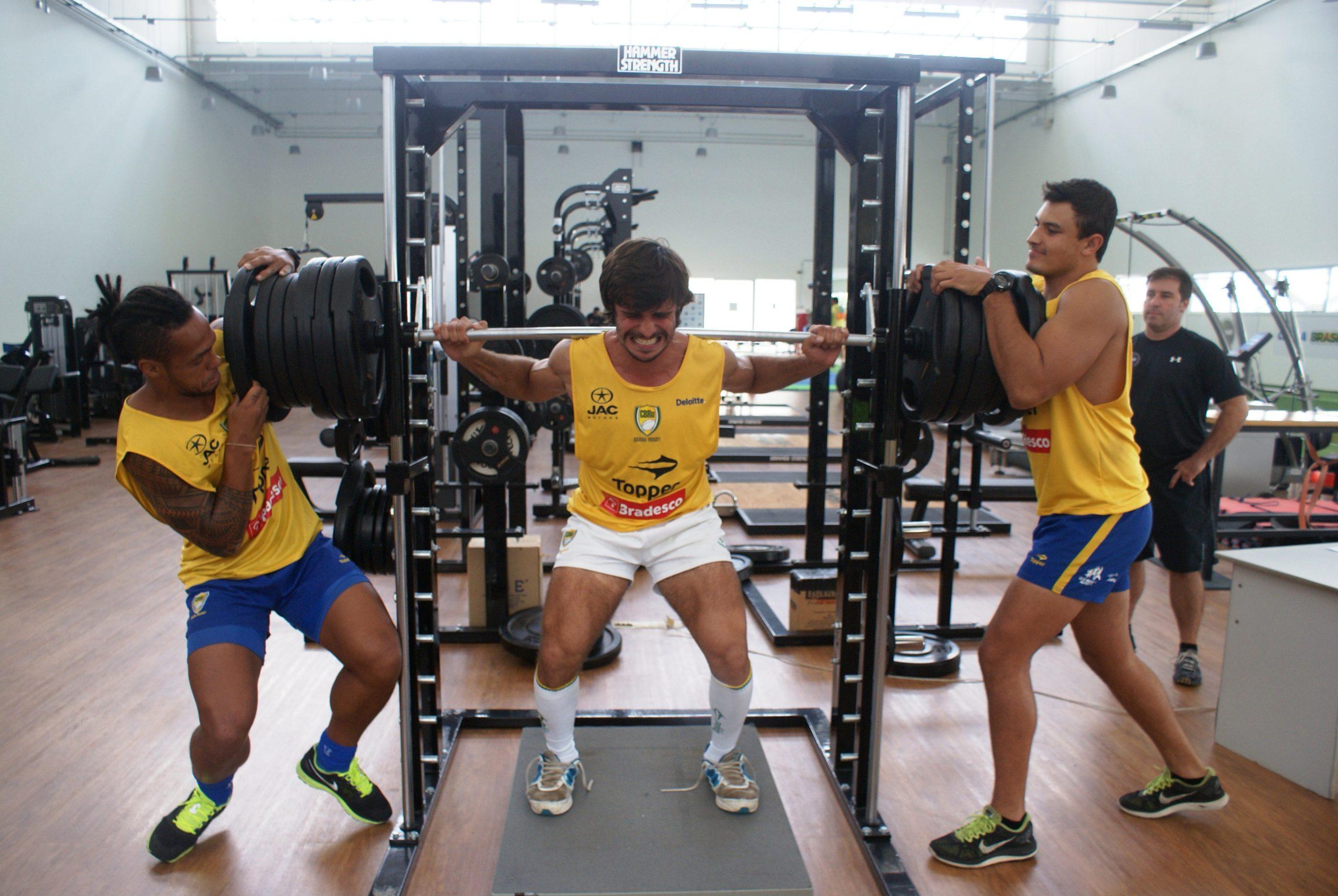 Seleção masculina de Rugby Sevens encerra avaliações com teste de força máxima