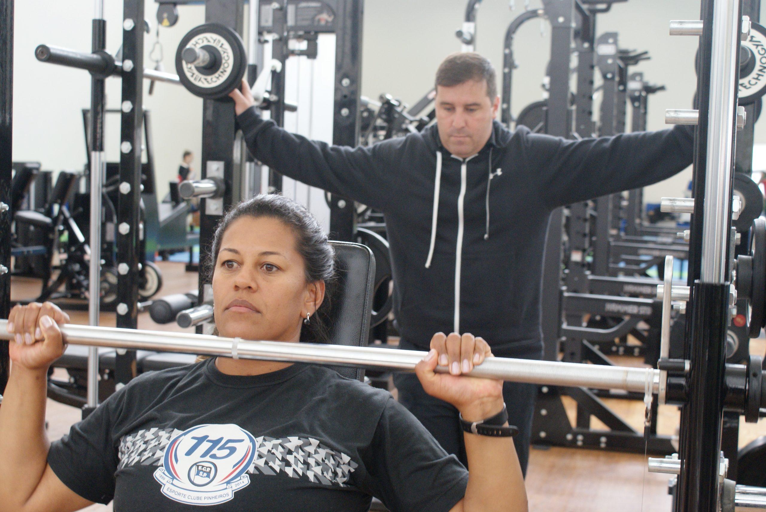 Cláudia Santos continua preparação física no NAR