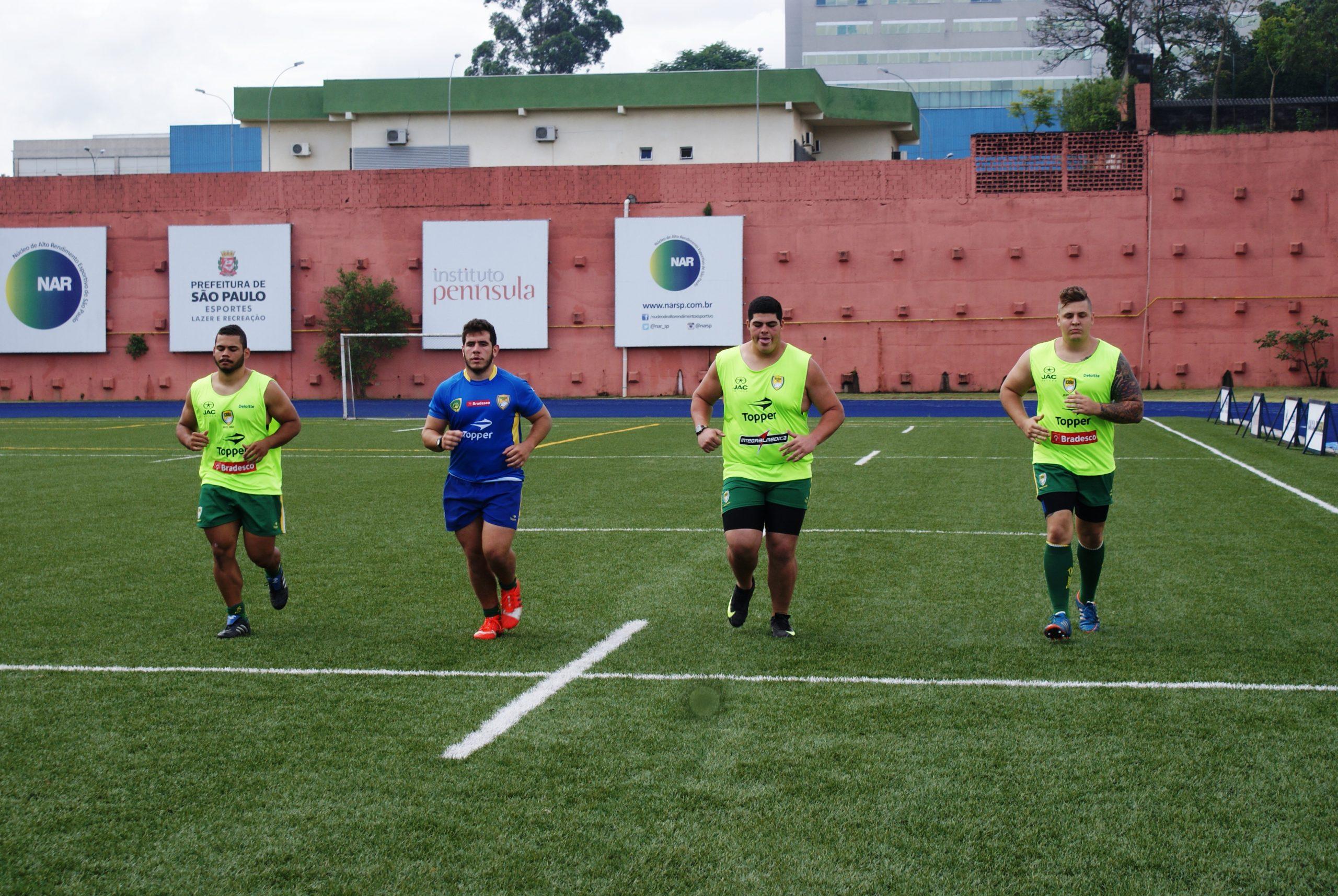 Seleção de rugby faz camp no NAR
