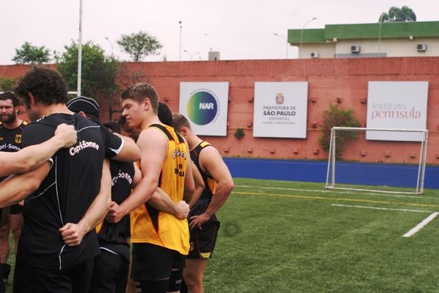 Antes de amistoso contra seleção brasileira, seleção alemã de rugby treina no NAR