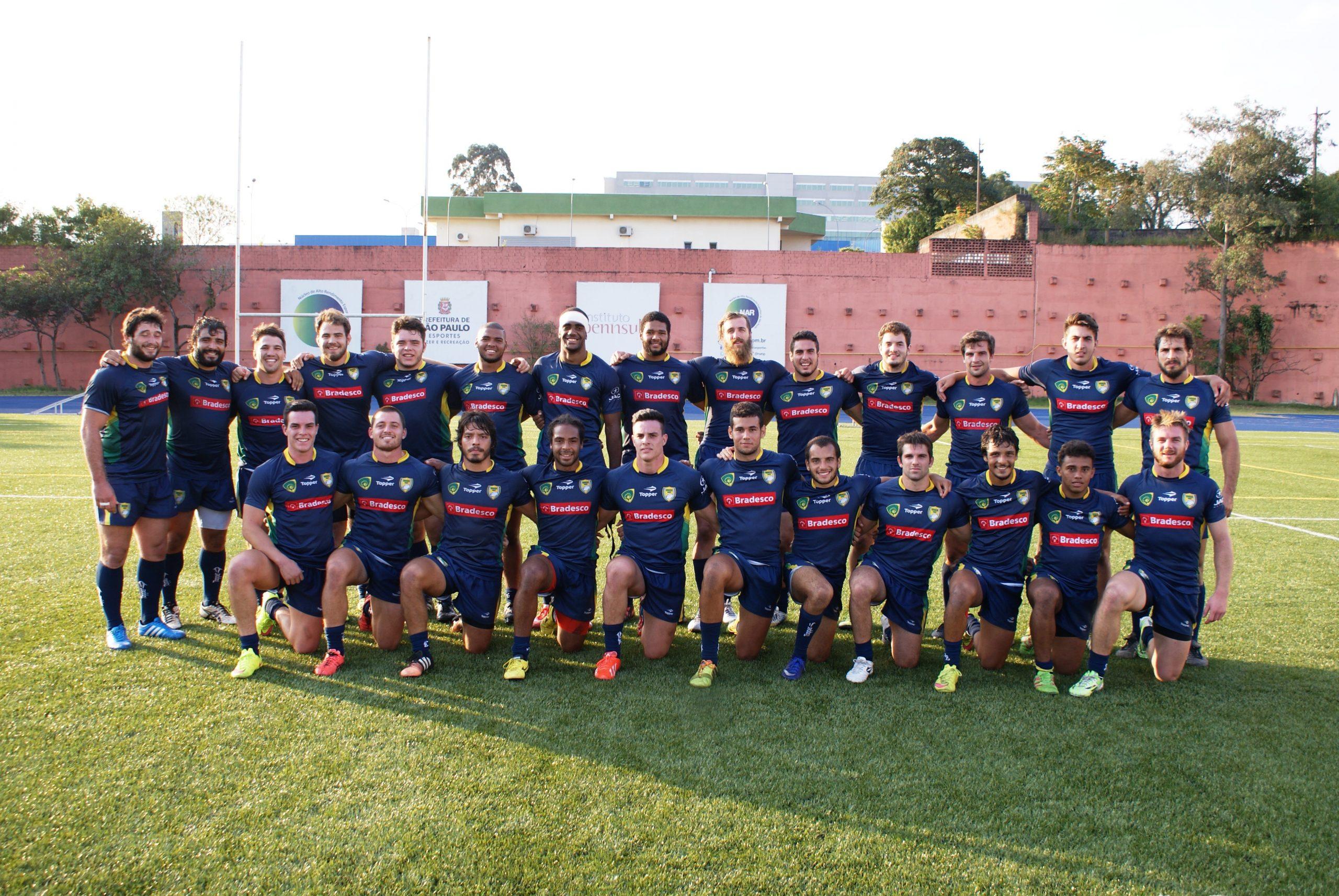 Seleção brasileira de rugby XV se prepara para partida contra Paraguai no NAR
