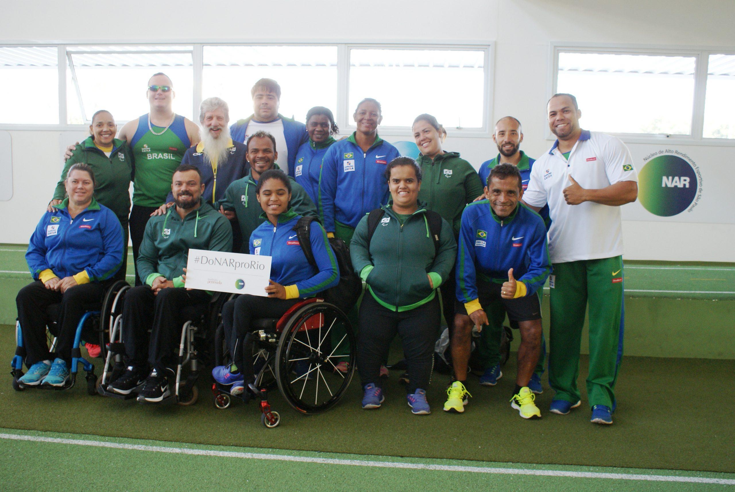Camp de atletismo paralímpico continua – desta vez, com presença dos lançadores e levantadores de peso