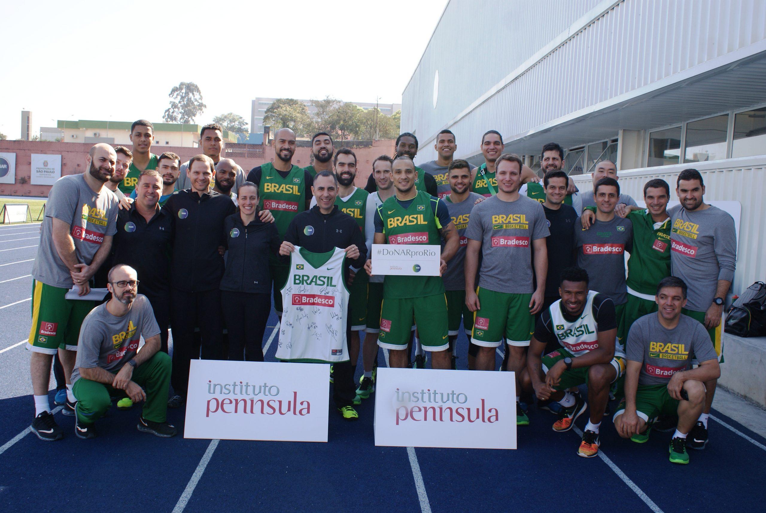Seleção Brasileira de Basquete é avaliada no NAR