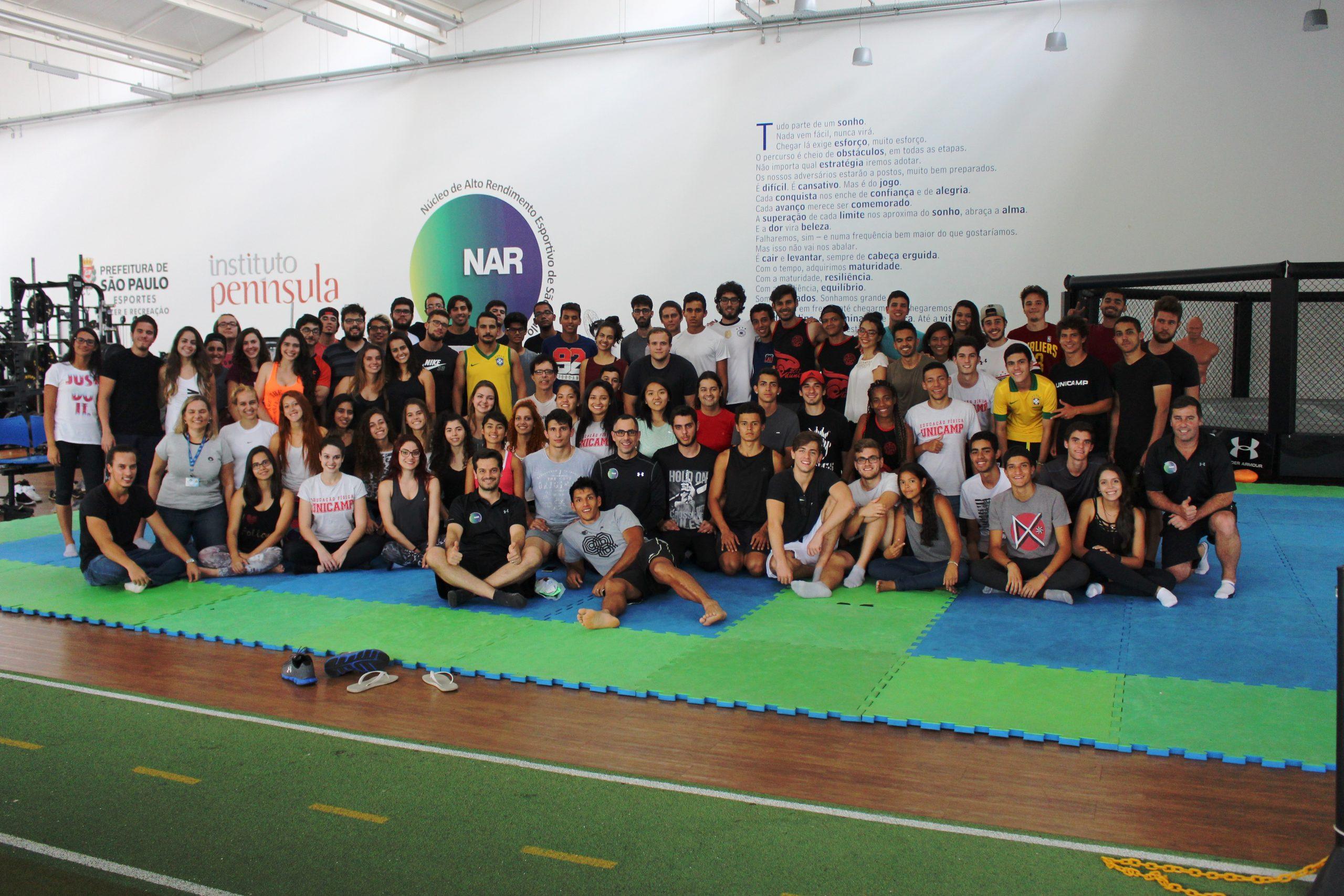 Alunos de Educação Física da FEF Unicamp visitam o NAR-SP