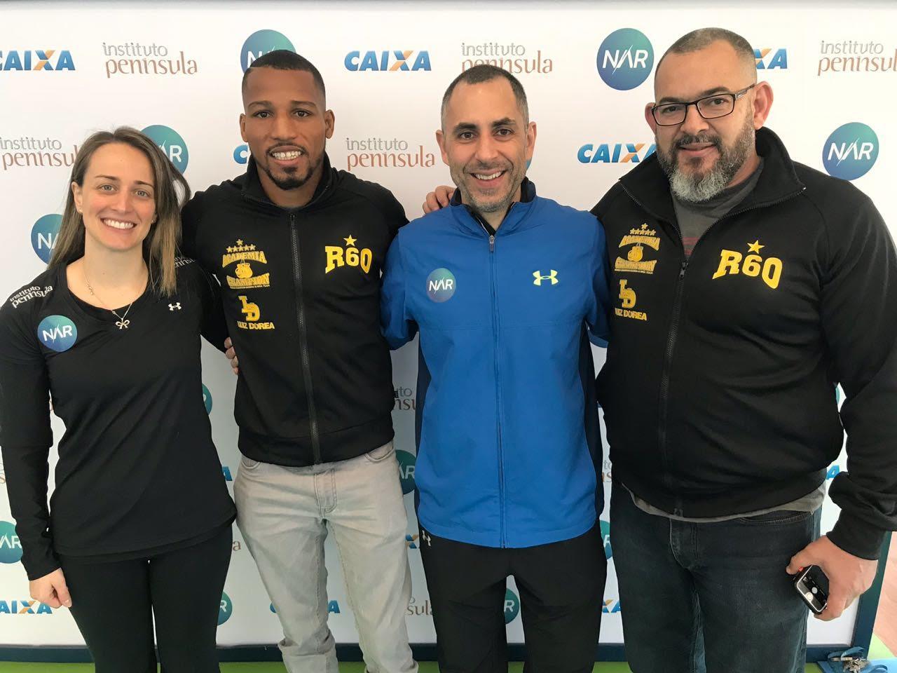 Robson Conceição visita o NAR