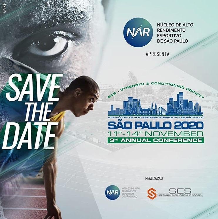 NAR-SP e Strength & Conditioning Society adiam conferência 2020