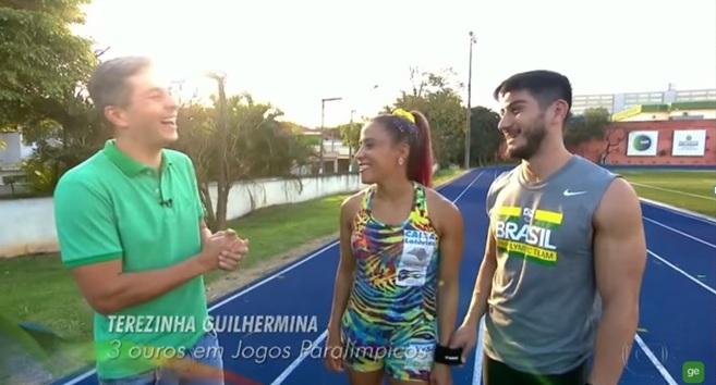 Ivan Moré treina com medalhista paralímpica Terezinha Guilhermina