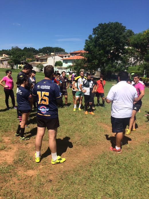 Atibaia Rugby e o Tatuapé Rugby realizaram treinamento de aprimoramento com o técnico e preparador físico Fester