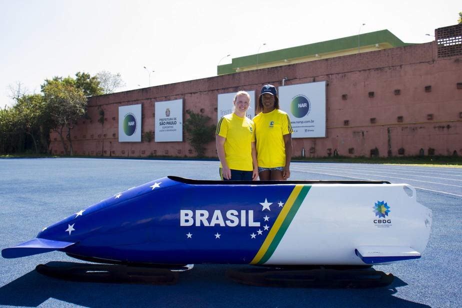 Dupla feminina do bobsled brasileiro tenta vaga em PyeongChang, mas foco é em 2022