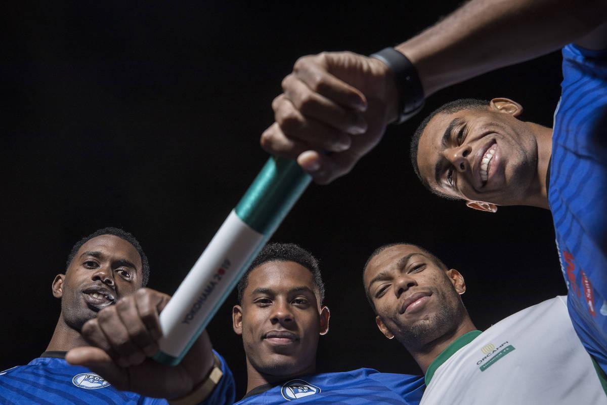 Velocistas brasileiros vão da falta de sapatilhas ao título mundial