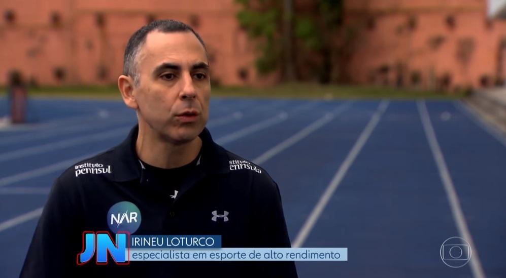 Irineu Loturco participa de matéria para o Jornal Nacional